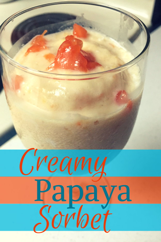 Creamy Papaya Sorbet recipe