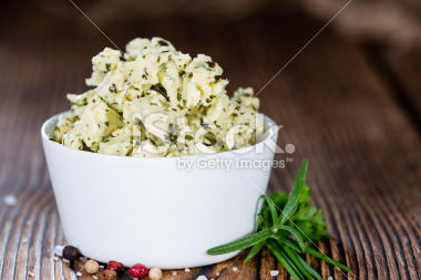 stock-photo-53709752-portion-of-herb-butter