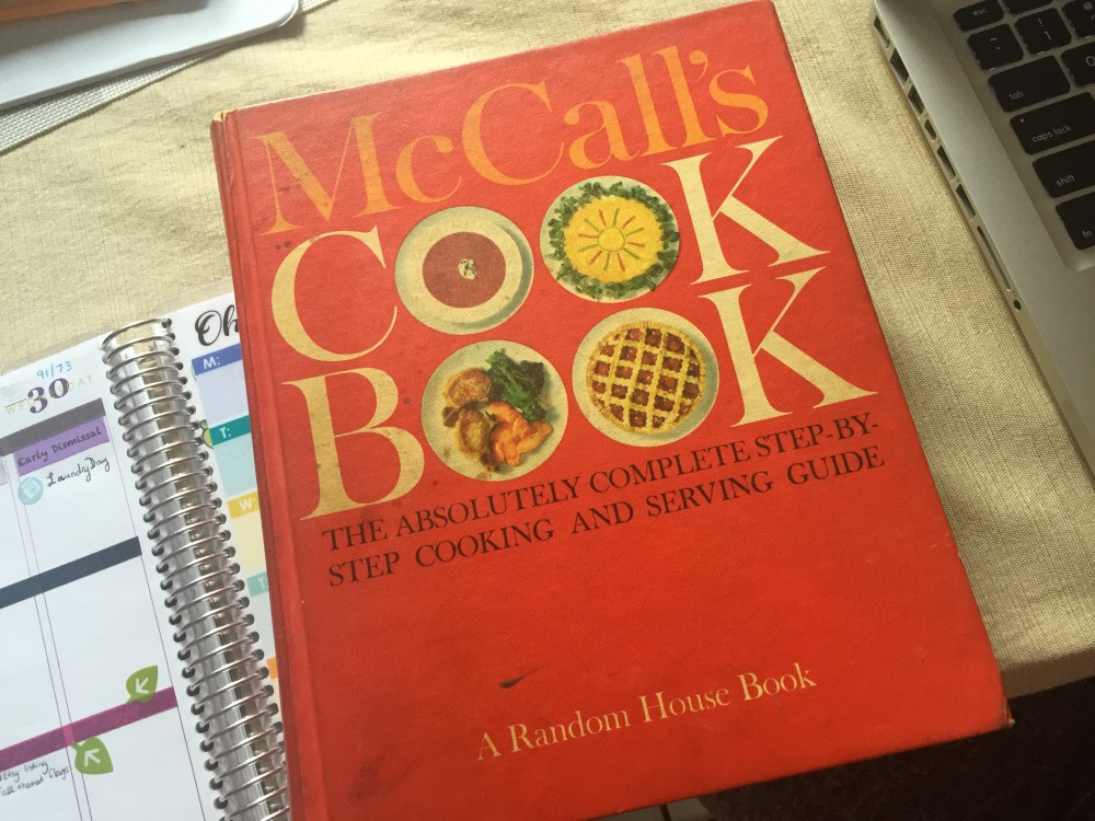 McCalls Cookbook - red hardcover 1963