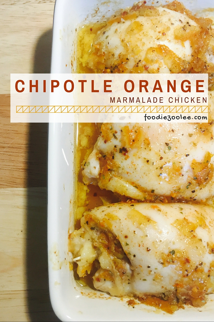 Chipotle Orange Marmalade Chicken Recipe by Foodiezoolee.com