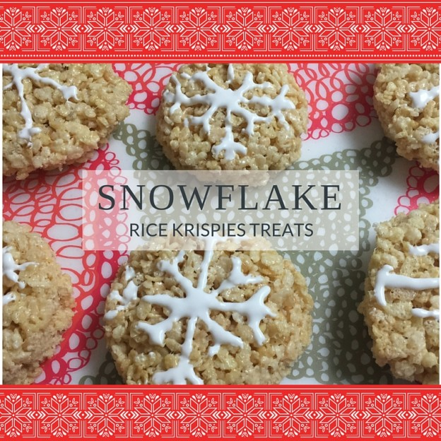 Snowflake rice krispies