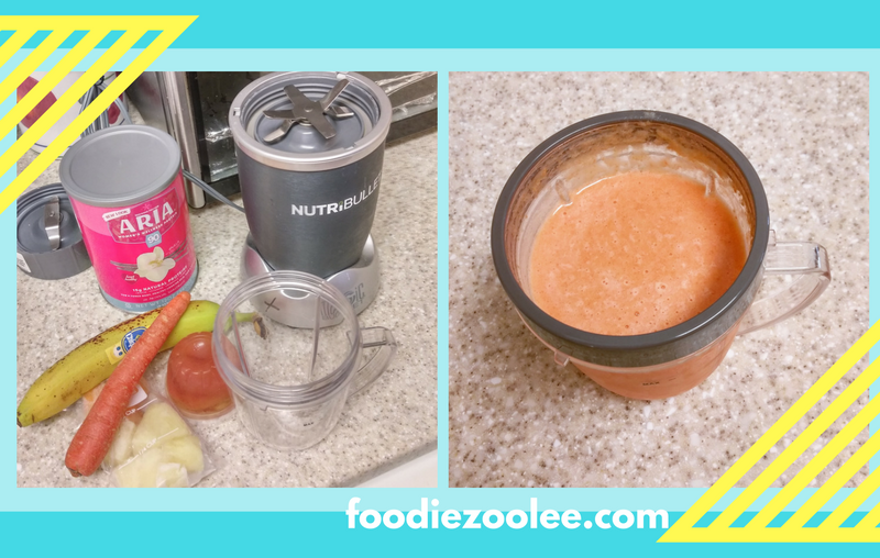 Carrot Cantaloupe Surprise Smoothie by Foodiezoolee.com